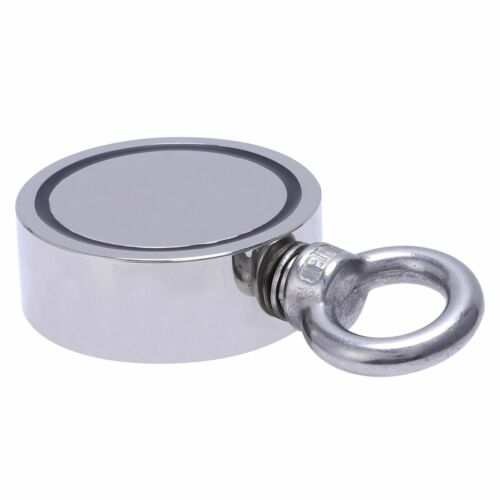 90-500kg Pull Salvage Strong Recovery Magnet Fishing Treasure Neodymium w// Rope