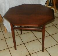 Walnut Octagon Coffee Table / End Table by Mersman  (JLC-CT80)
