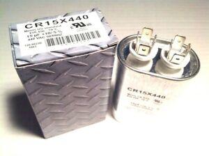 Industrial-Grade-HVAC-Capacitor-15-mfd-Oval-Multi-Purpose-Replacement-370-440-AC
