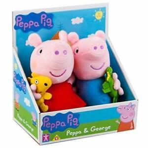 Peppa Pig soft plush toy doll teddy Set de 2-Peppa & George