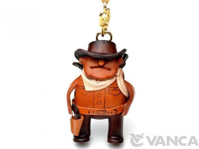 Cowboy Handmade 3D Leather (L) Keychain/Keyring *VANCA* Made in Japan #56824