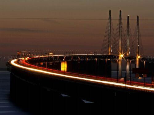BRIDGE EVENING SUNSET ARCHITECTURE SWEDEN ART PRINT POSTER PICTURE BMP416A