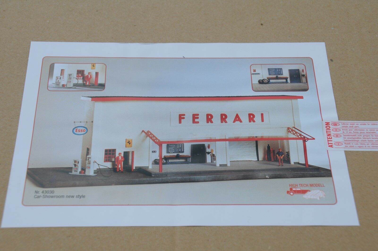 Exoto 43 Hi-Tech Hi-Tech Hi-Tech   Ferrari Prep & Service Facility   1 43 Garage    EHT00001 21bbaa