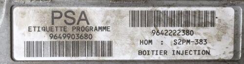 Calculateur Citroen C3 1.4 S2PM-383 21584159-6 IND B 9649903680 9642222380