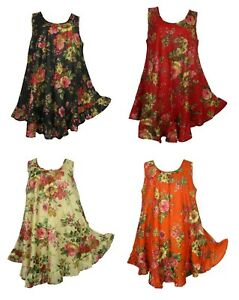 Hippie-Lagenlook-Tunic-Top-Dress-Boho-Beach-Kaftan-Size-18-20-22-24-26-28-30