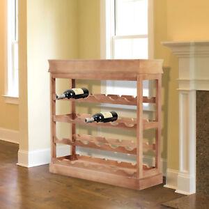 HOMCOM-Wine-Rack-Wooden-24-Bottles-Stackable-4-tier-Display-Shelves