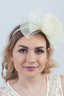 Cream Bow Fascinator Fascinators Hair Accessories Wedding Guest Race Day Hats Ebay