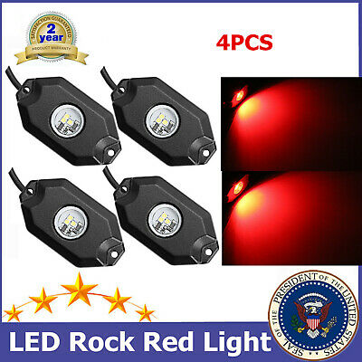 4pcs CREE 9W LED Rock Light SUV ATV Offroad Blue Under Trail Rig Light Ford UTE