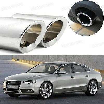 2 x Bule Exhaust Muffler Tail Pipe Tip Tailpipe for Audi A5 2012-2016
