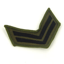 GREEN ARMY Stripes  Sew On Embroidered Patch Badge Army Military
