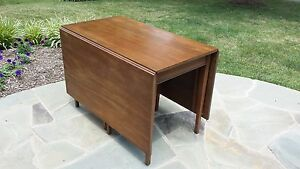 Image Is Loading Henkel Harris Solid Mahogany Drop Leaf Dining Table