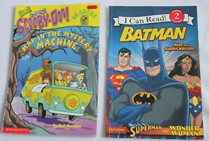 Details about Lot of 2 Level 2 Reading Books Cartoons Batman Scooby-Doo on scooby doo ruh-roh, scooby doo the mystery car, scooby doo adventures,