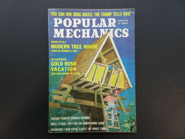 Popular Science, June 1965, 1960s Vintage Popular Mechanics