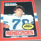 1985 Topps Jerry Doerger #99 Football Card