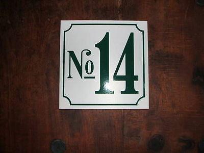 10 Oder 25 Hausnummer Kunststoff 5 Mm, 150 X 150 Mm, Wunschzahl/ Farbe/ Anzahl