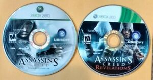 Assassin-039-s-Creed-Xbox-360-Game-Lot-Of-2-Original-amp-Revelations-Discs-Only