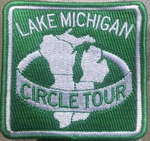"""LAKE MICHIGAN CIRCLE TOUR PATCH 3/"""" x 3/"""""""