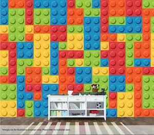 Lego Bricks Wall Mural Wall Art Quality Pastable Wallpaper Decal ...