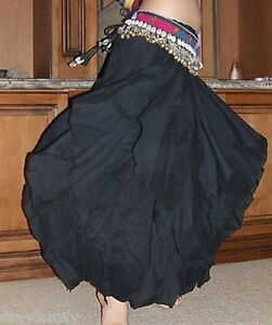 TRIBAL-COTTON-BLACK-ENDLESS-WAVE-HAREM-PANTS-for-BELLY-DANCE-Hand-Made-INDIA