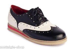 newest 57f06 5d7b2 Details zu Lola Ramona CECILIA Saddle Shoes 50er retro Budapester Damen  Bowling Schuhe Lady