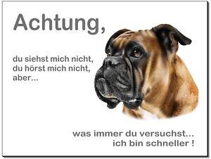 Dekoration Haustierbedarf Boxer-hund-aluminium-schild-0,5-3 Mm Dick-türschild-warnschild-hundeschild Elegant Und Anmutig