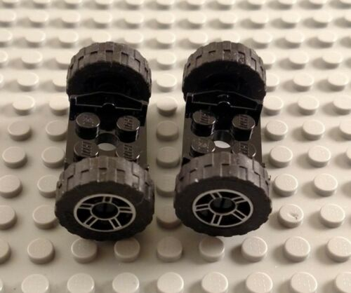LEGO Pair of Tires with Silver Spoked Rims