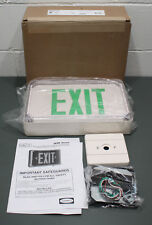 Hubbell Lighting Led Exit Sign Dual Lite Cast Aluminum Outdoor Single Face