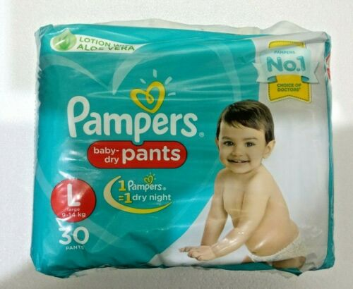 S SIZE XL M Pampers baby dry Pants Diapers White new born L