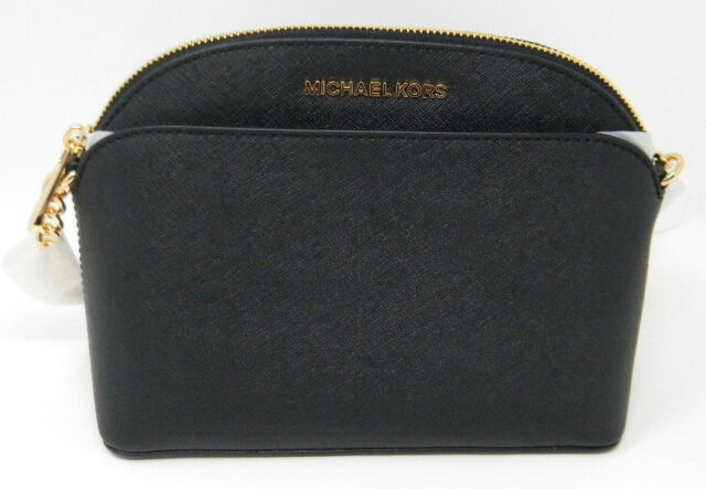 Michael Kors Black Saffiano Leather Emmy Crossbody Bag 35h7gy3c2l
