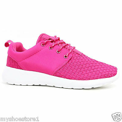 LADIES WOMENS GIRLS RUNNING TRAINERS LIGHTWEIGH GYM SPORTS SHOCK ABSORBING SHOES