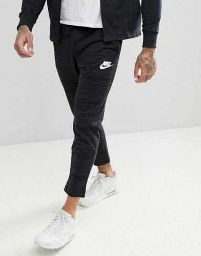 Men/'s Nike Sportswear Advance 15 Knit Pants 885923 010 Heather Black NWT
