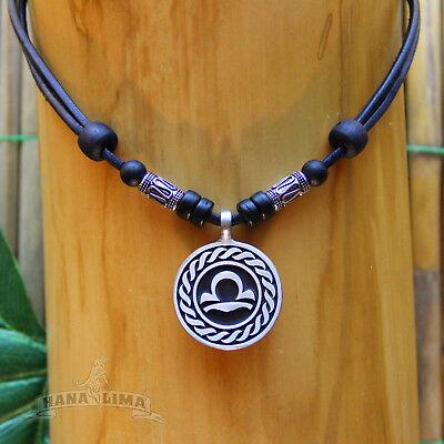 Sinnvoll Sternzeichen Halskette Waage Libra Verstellbar Lederkette Tierkreiszeichen Sonne