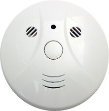 720P HD Hidden Motion Detection Spy Nanny Camera Smoke Detector DVR with Audio