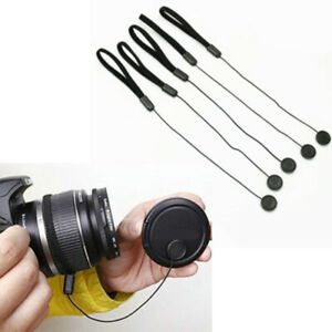10-Lens-Cover-Cap-Keeper-Holder-Rope-For-Sony-Nikon-Canon-Pentax-DSLR-Camera
