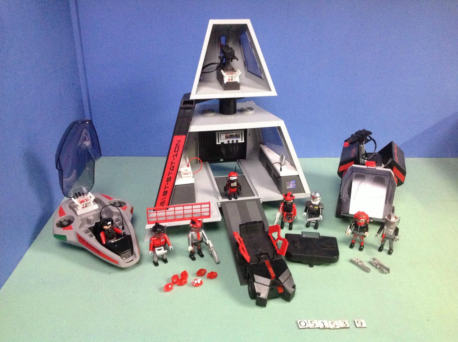(O5153.9) Playmobil Planet Futuro Base 5153+Veicolo 5154 + Nave 5155