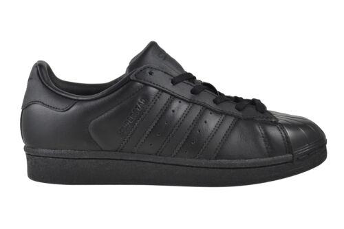 Adidas Superstar Glossy TOE Women black white Sneaker Schuhe schwarz BB0684