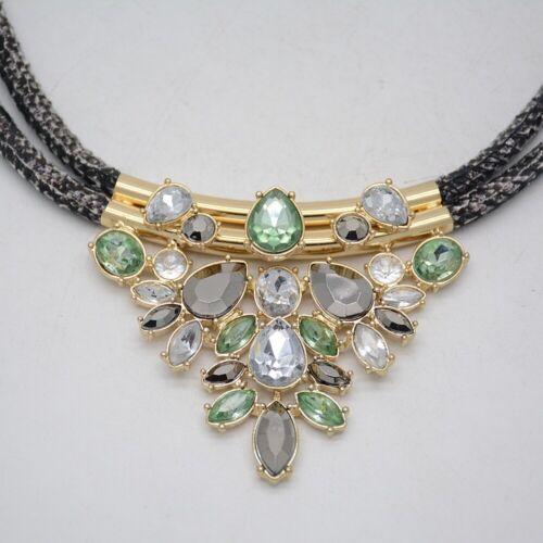 Banana Republic Bijoux Unique Double corde coupe cristaux pendentif collier Collier