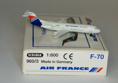 Schabak Fokker F-28-0070 Air France Air Inter Express in 1:600 scale