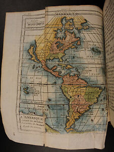 1772-World-Geography-ATLAS-Claude-Buffier-MAPS-California-as-an-Island-Voyages