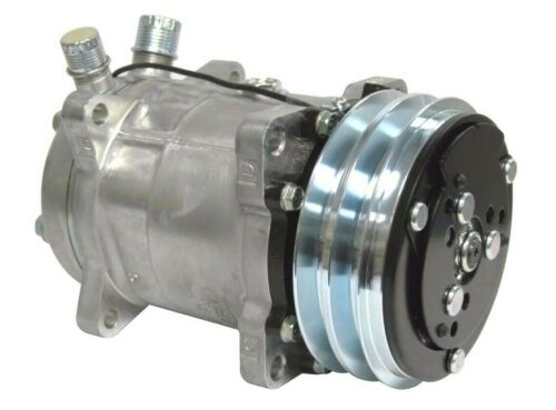 """New A//C Compressor SD508 Sanden Style V-Belt 2 Groove Pulley 3//4/"""" 7//8/"""" A//C Ports"""