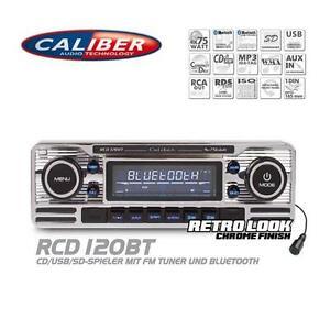 Caliber-RCD120BT-Autoradio-Bluetooth-CD-USB-SD-Retro-Design-Look-Oldtimer-Style