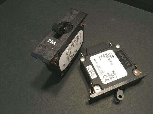 AIRPAX 25 A 80 VDC performances Protection interrupteur disjoncteur Iegs 1-29239-7-v