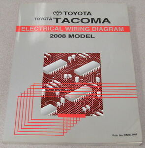 details about 2008 toyota tacoma truck electrical wiring diagram service manual  tacoma brake system wiring diagram