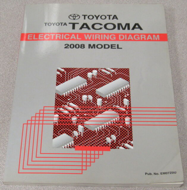 2008 Toyota Tacoma Truck Electrical Wiring Diagram Service