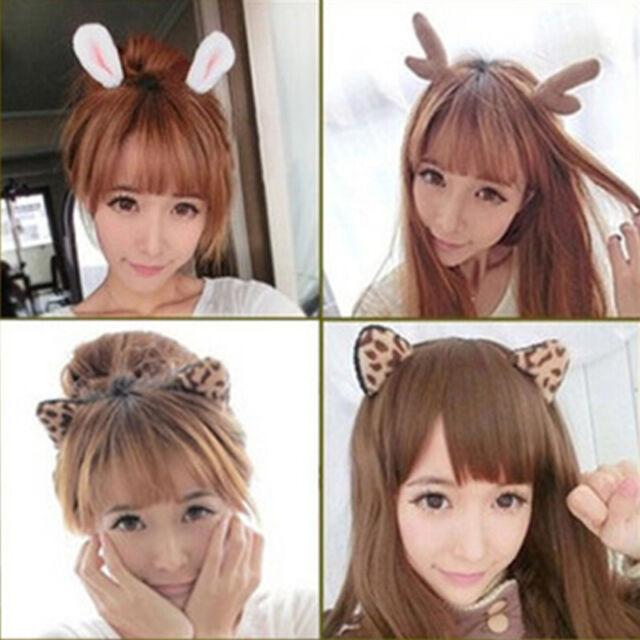 Pack Of 6 Women Girls Kids Christmas Deer Antlers Costume Ear Party Hair Head For Sale Online Ebay