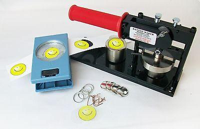 "1"" Tecre Button Maker Machine + Button Boy Hand Held Punch + 500 Parts"