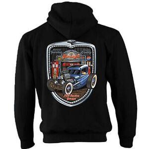 Zip E Cappuccio Garage Rat Grill Hotrod Rod Hot 58 29 Con Felpa Vintage Auto nYq0aAZ8