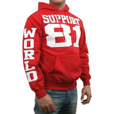 986 Support 81 World Men rot Kapuzenpullover Hooded Sweater S-3XL