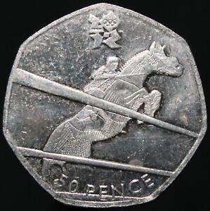 2011-Elizabeth-II-London-2012-039-Equestrian-039-50p-Cupro-Nickel-KM-Coins
