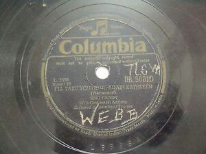 BING-CROSBY-DB-50010-ENGLAND-RARE-78-RPM-RECORD-10-034-VG